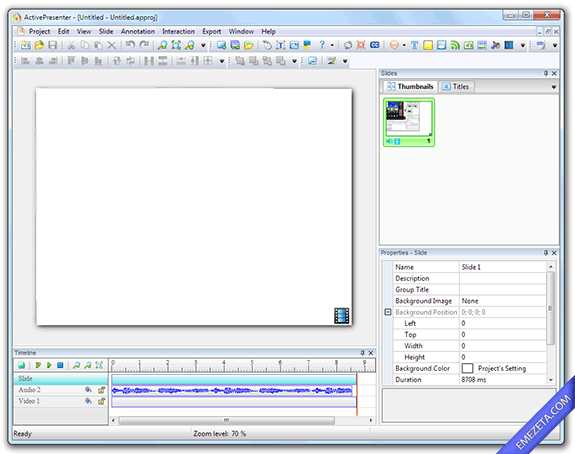 Capturar pantalla en video (screencast): ActivePresenter
