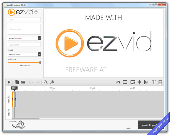 Capturar pantalla en video (screencast): Ezvid
