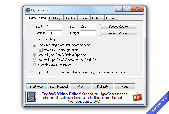 Capturar pantalla en video (screencast): Hypercam