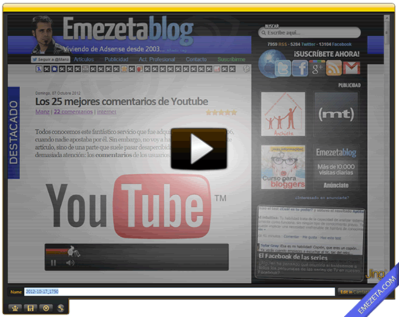 Capturar pantalla en video (screencast): Jing