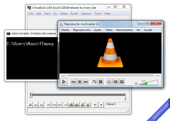 Capturar pantalla en video (screencast): Virtualdub vlc ffmpeg