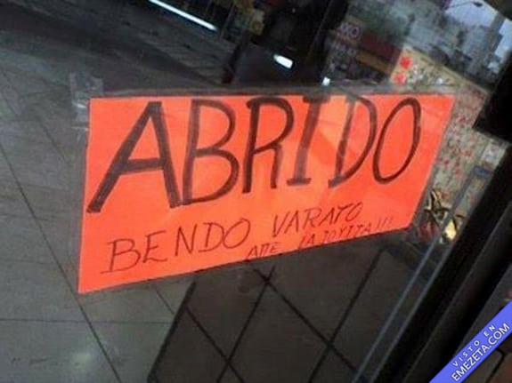 Carteles desconcertantes: Abrido bendo varato