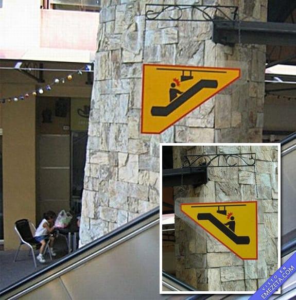 Carteles desconcertantes: Cuidado con el cartel
