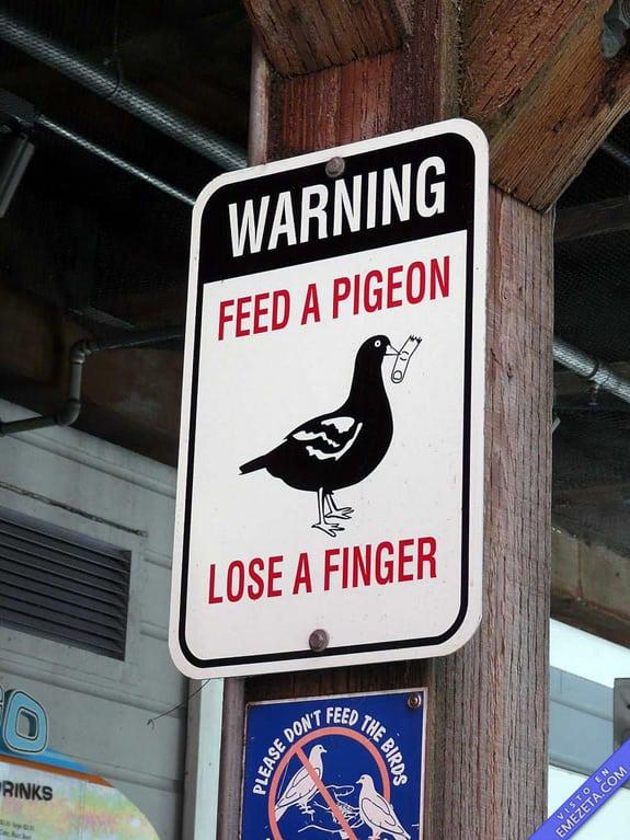 Carteles desconcertantes: Cuidado perder dedos