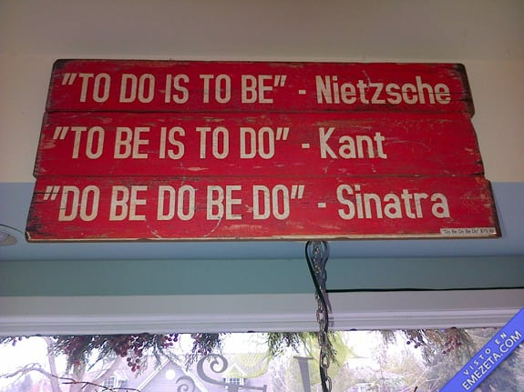 Carteles desconcertantes: Do be do be do