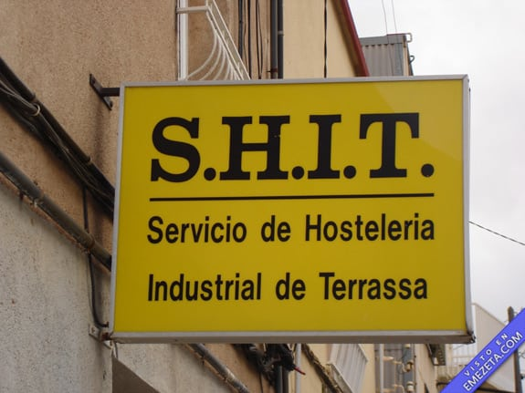 Carteles desconcertantes: Hosteleria shit