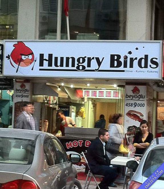 Carteles desconcertantes: Hungry birds