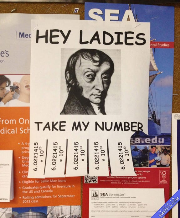 Carteles desconcertantes: Numero de avogadro