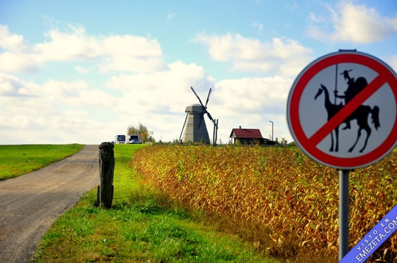 Carteles desconcertantes: Prohibido quijotes