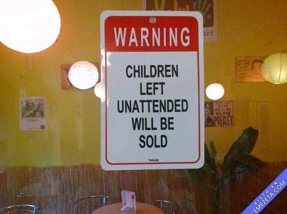 Carteles desconcertantes: Seran vendidos
