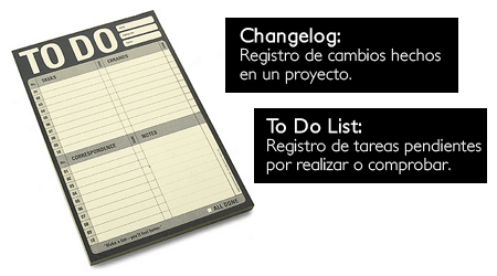 changelog to do list
