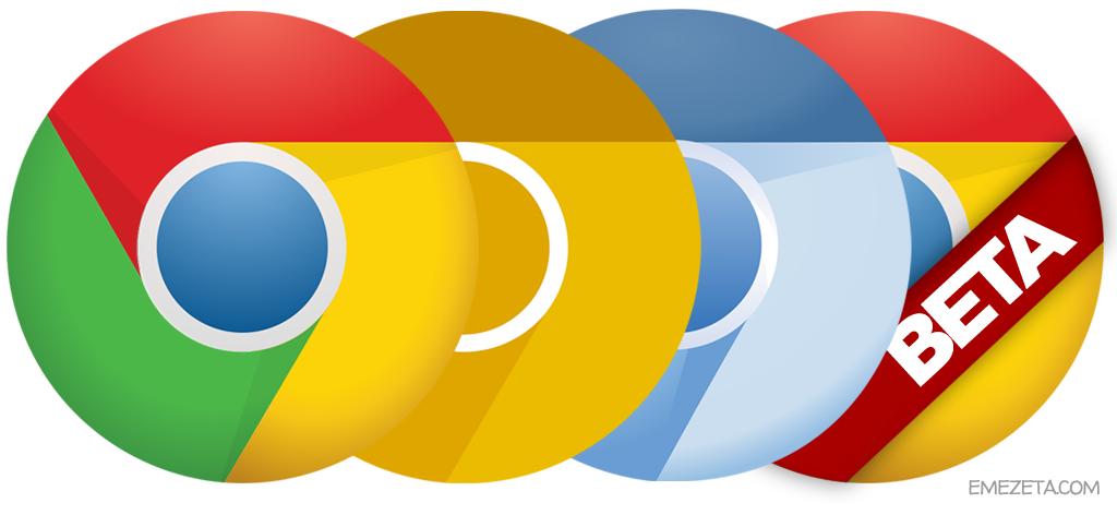 Versiones de Google Chrome