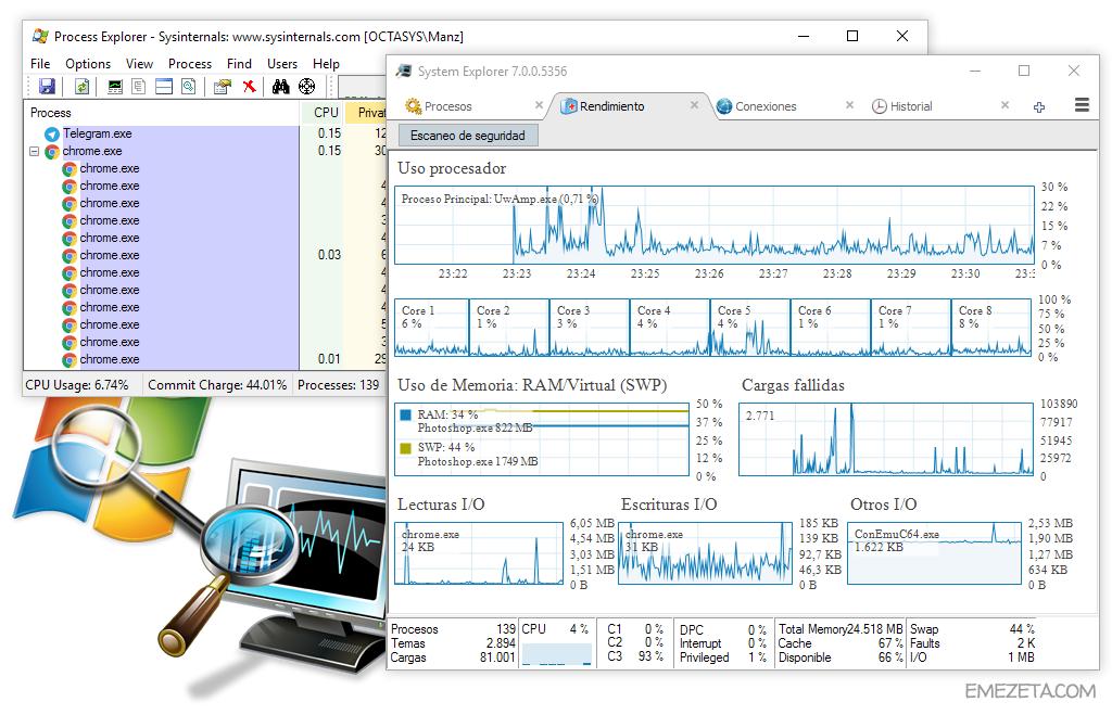 Process Explorer y System Explorer