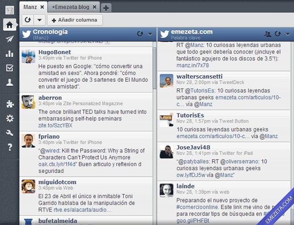 Clientes de escritorio para Twitter: HootSuite