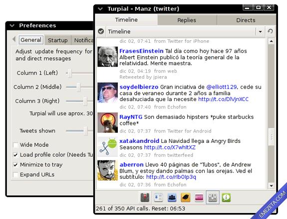 Clientes de escritorio para Twitter: Turpial