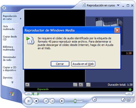 codec wmp windows media player