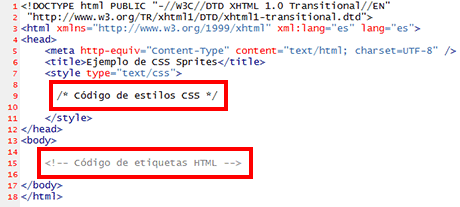codigo css html