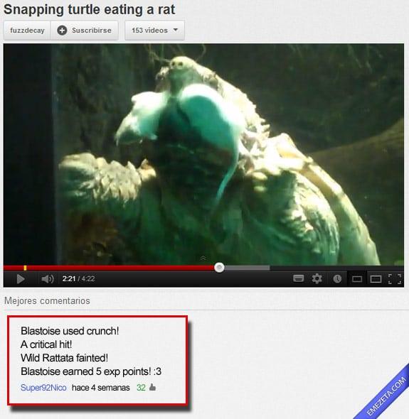 Comentarios de youtube: Blastoise pokemon