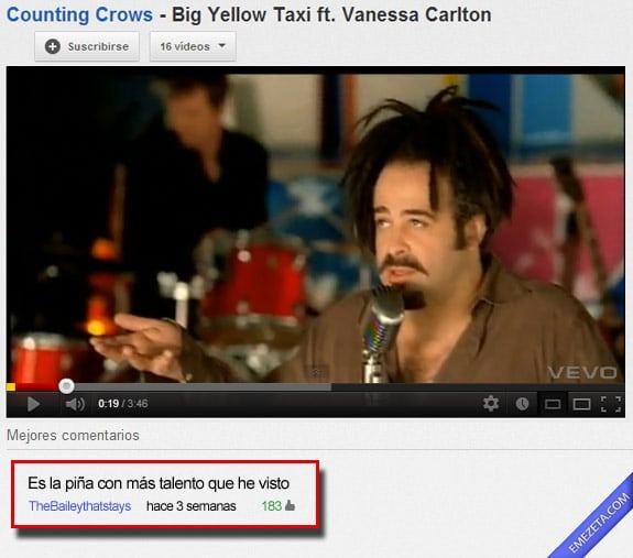 Comentarios de youtube: Fruta talento