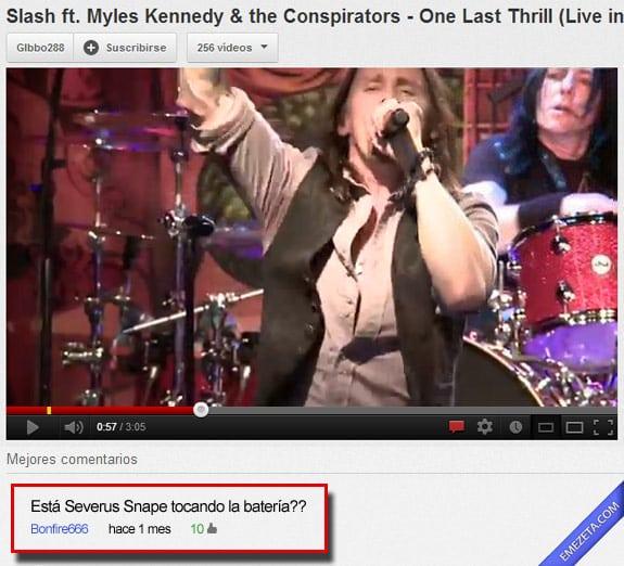 Comentarios de youtube: Severus snape again