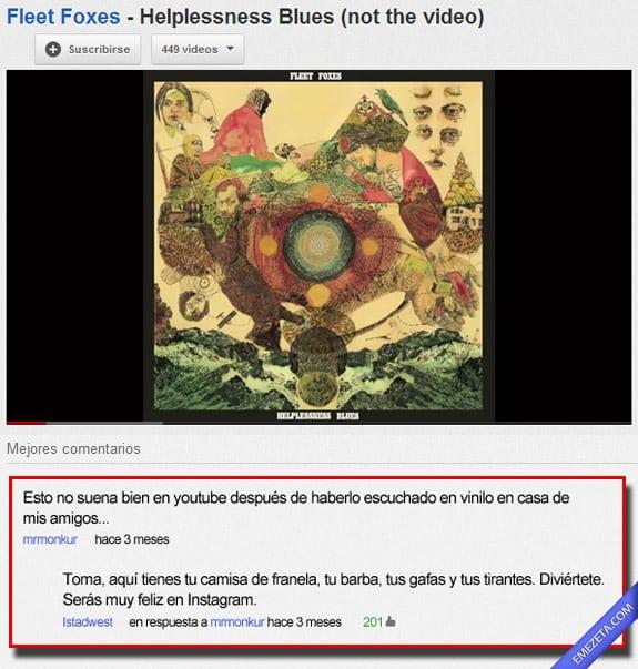 Comentarios de youtube: Youtube hipsters