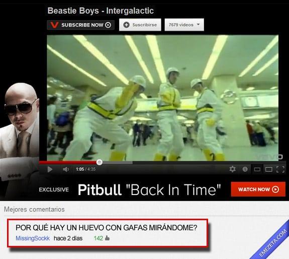 Comentarios de Youtube: Huevo con gafas