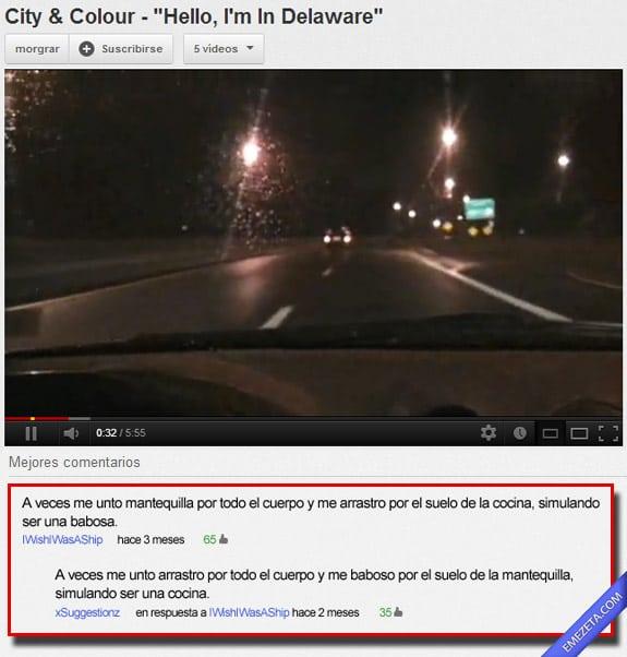 Comentarios de Youtube: Mantequilla babosa