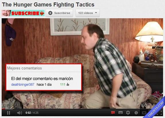 Comentarios de Youtube: Mejor comentario maricon