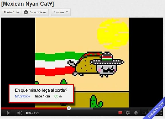 Comentarios de Youtube: Mexican nyan cat