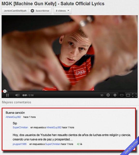 Comentarios de Youtube: Religion ciencia