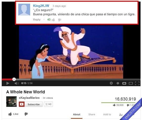 Comentarios de Youtube: Aladdin