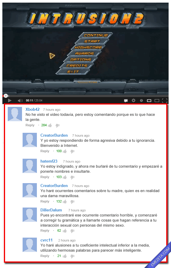 Comentarios de Youtube: Comentarios youtube