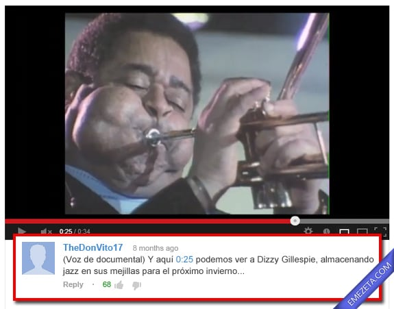 Comentarios de Youtube: Documental jazz
