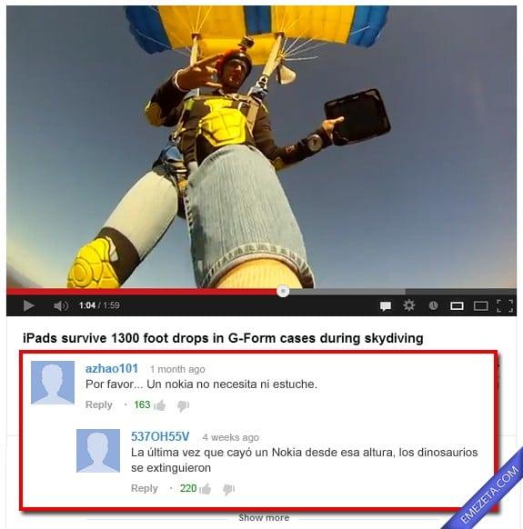 Comentarios de Youtube: Ipad 1300