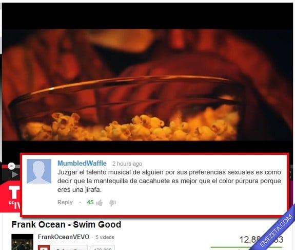 Comentarios de Youtube: Mantequilla de mani