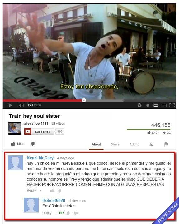 Comentarios de Youtube: Me gusta un chico