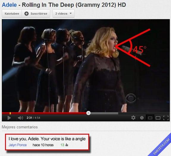 Los mejores comentarios de youtube: Adele angulo