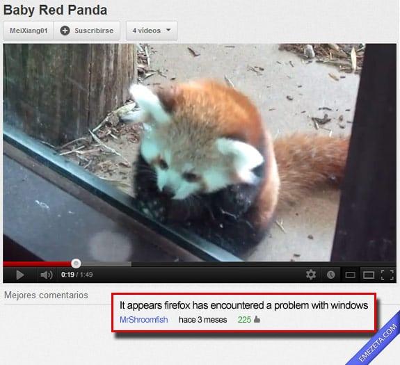 Los mejores comentarios de youtube: Firefox windows problem