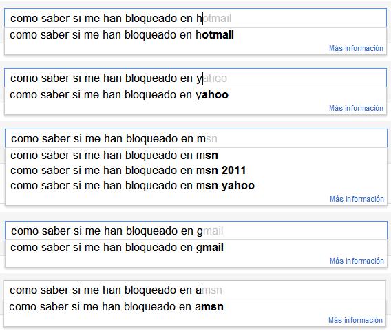 Google: Como saber si me han bloqueado en hotmail, yahoo, msn, gmail o amsn.