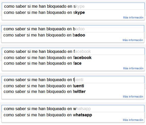 Google: Como saber si me han bloqueado en skype, badoo, facebook, tuenti, twitter o whatsapp.
