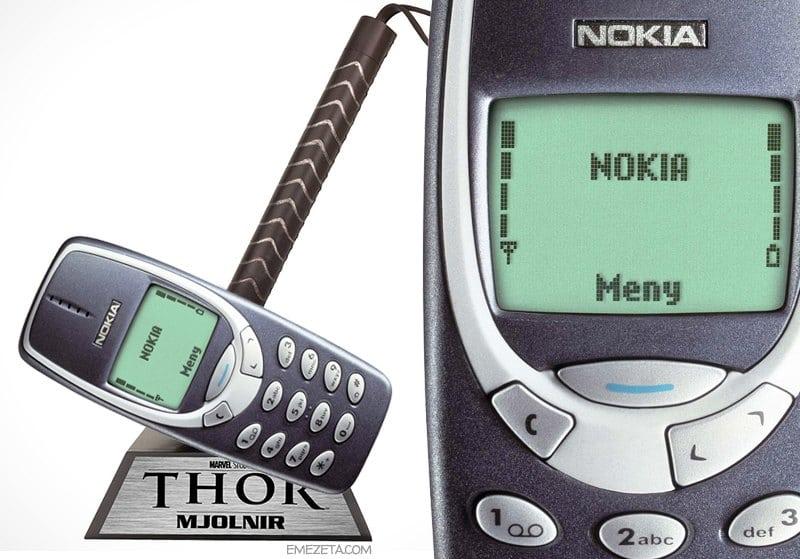 Nokia 3310, el Mjolnir de Thor