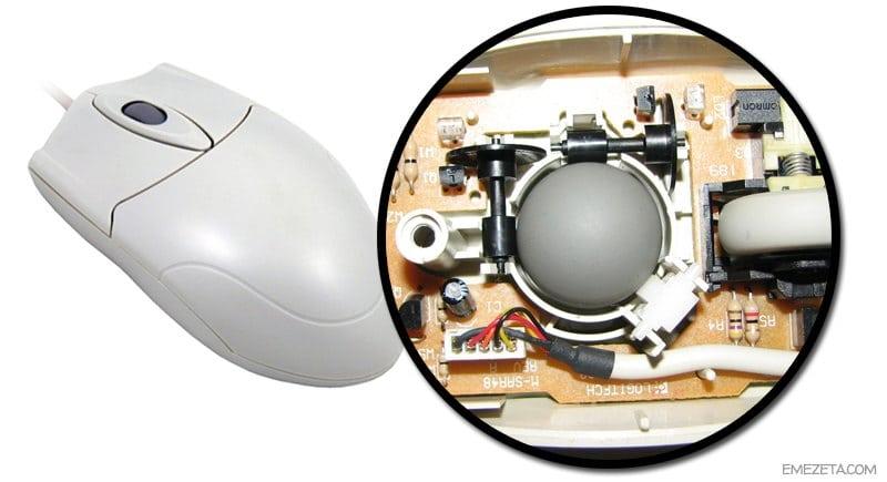 Ratón (mouse) con bola o bolita