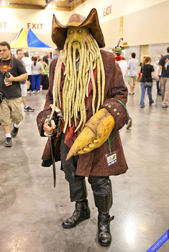 Cosplay: Davy jones piratas caribe