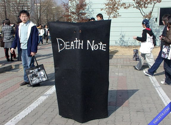 Cosplay: Death Note cosplay (Literalmente)