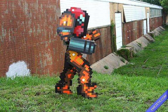 Cosplay: Samus pixel retro