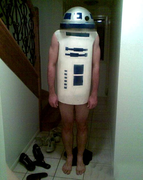 Cosplay: R2D2-Man (Starwars)