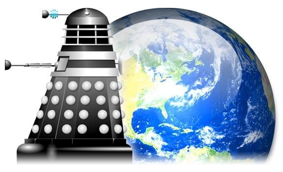 Un Dalek en el planeta tierra