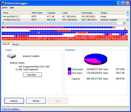 Defraggler: Defragmentador gratis para Windows