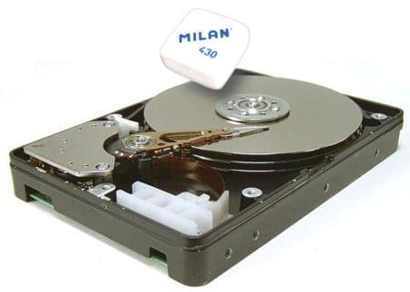 delete hard disk borrar disco duro