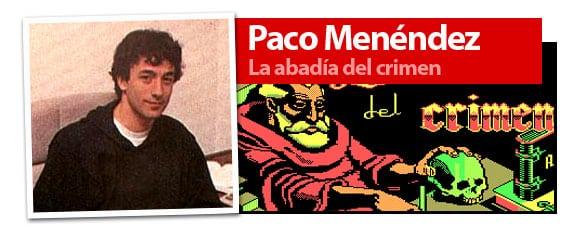 Paco Menendez, autor del videojuego La abadía del crimen